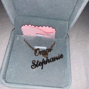 "Custom necklace name ""Omar"" & ""Stephanie"""